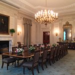 State Dining Room, can you imagine the conversations in here?