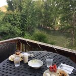 Breakfast with a river view.