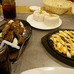 Adobong Manok + Pork Cheesig