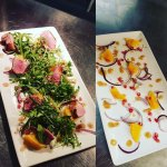 Honey roast duck with orange and pomegranate salad