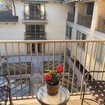 Our narrow balcony