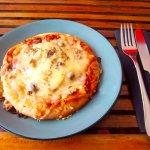 Pizza chevre saumon