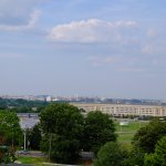 the Pentagon from afar