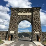 The only gate to Yellowstone at the northern entrance in Gardenier