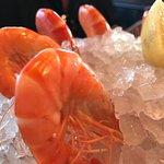 Fresh, whole shrimp at L'Atlas.