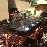 Barbeque lunch setting- Nester Creek- A must stop on your Osoyoos/Oliver wine holiday