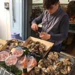 Fresh oysters and seafood at Broadway Market
