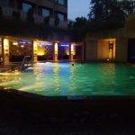 Quaint pool at Marriott overlooking Courtyard Marriott