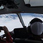 Sobrevolando el glaciar