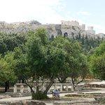 Views towards the Acropolis