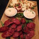 Chorizo and Haloumi