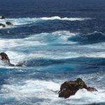 vue sur la mer magnifique mais très agitée
