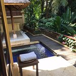 Our private pool at our pool villa