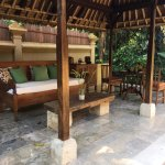Our outdoor seating area (pool villa)