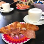 Best croissant with cream cheese and ham