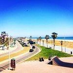 Beach (3 mins walk away)