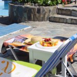 Fruit at the pool, not a problem, :-)
