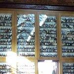 An extensive liquor selection on display