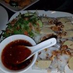 flat rice vegan rolls