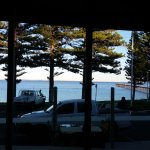 Dining room out across the bay & jetty