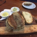 Cobb loaf with garlic and herb butter