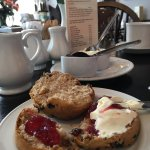 Burnt scone clotted cream tea. Enough said