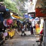 The main market street.