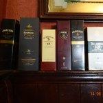 Selection of irish whiskeys