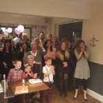 Mum on her 80th surrounded by her family !!! Thanks to all at the Village Bistro for making this