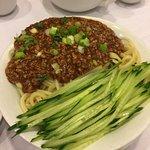 Beijing noodles with minced meat in Szechuan sauce