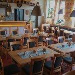 Der Gastraum unseres Gasthofes mit Sitzplätzen für bis zu 40 Personen