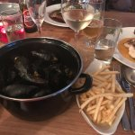 Spiced Mussels and frites