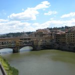 Arno and Ponte Vecchio view from room