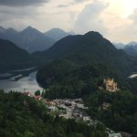 Looking down at the Alpsee, the base area and Schloss Hohenschwangau