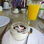 Breakfast Yogurt and juice