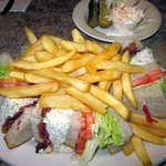 Chicken Salad Club Sandwich platter