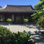 This courtyard in the Chinese Garden usually has musicians serenading crowds on the weekends.