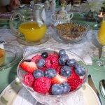 Lots of fresh fruit at breakfast