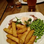 Delicious Gammon, Egg and Triple Cooked Chips