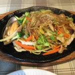 Seafood yakisoba.