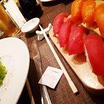 Nigiri Tuna and Salmon