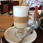 Caffee latte at breakfast