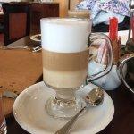 Caffee latte at breakfast