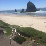 Haystack Rock is right there!