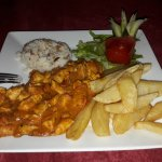 Indian curry in Turkey with proper chips. You couldn't make it up. lol.
