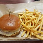 The Chicken Parmesan Burger w/side order of fries