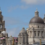 The Liver Birds as seen from the Albert Dock