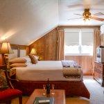 Oak's king bed splits into two XL-twins.