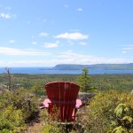 These red adirondack chairs were at the end of many hikes overlooking amazing sights.