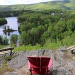 Another great view and another red adirondack chair.